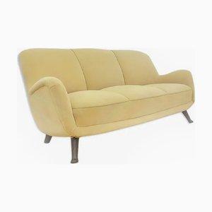 Vintage Velvet Sofa from Berga Möbler, 1940s