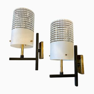 Mid-Century Modern Italian Wall Sconces in the Style of Stilnovo, 1950s, Set of 2