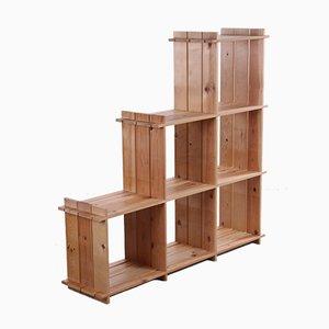 Raumteiler oder Fach Schrank aus Pinienholz