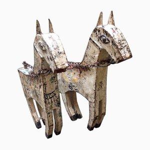Eisen Karussell Pferd Set