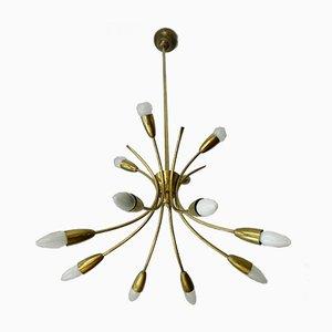12-Leuchten Deckenlampe von Rupert Nikoll, 1960er