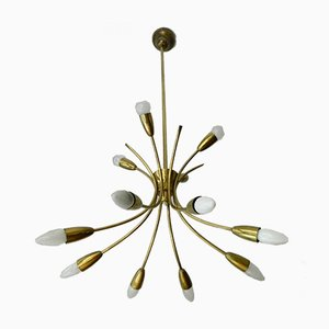 12-Light Ceiling Lamp by Rupert Nikoll, 1960s