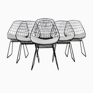 Chaises Wire SM05 par Cees Braakman & Adriaan Dekker pour Pastoe, 1958, Set de 6