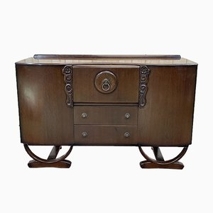 English Art Deco Oak Bar