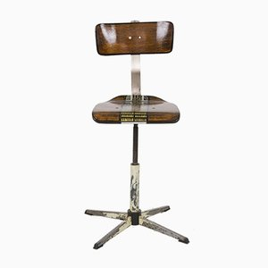 Hand-Painted Workshop Spinning Chair, 1960s