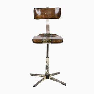 Handbemalter Spinning Stuhl, 1960er