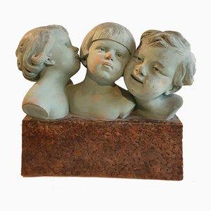 Skulptur aus Terrakotta von D. Daniel