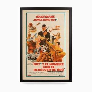 Affiche Originale de Film de Sortie de l'Argentin James Bond: Man with the Golden Gun, 1974