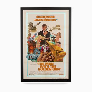 Original American Release Movie Poster for James Bond: Man with the Golden Gun, 1974