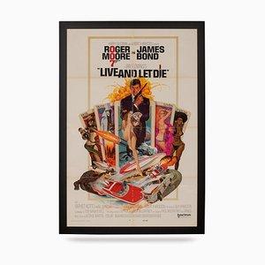 Póster de la película American Release original de James Bond: Live and Let Die, años 70