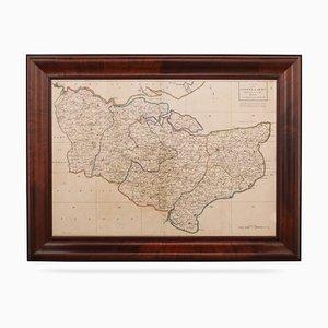 Carte du Kent 18ème Siècle par John Cary, 1760s