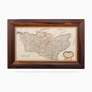 Mappa del Kent, XVII secolo di Robert Morden, fine XIX secolo