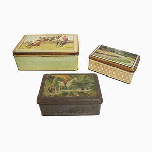 Vintage Tin Boxes from Industria Ligure Lombarda SRL, 1960s, Set of 3
