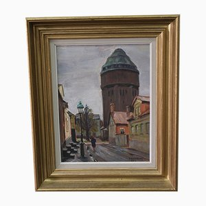 Carl Oscar Larsson, Swedish Modern Oil Painting, 1956