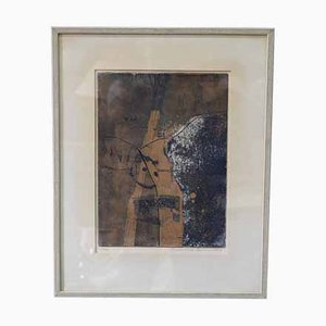 Abstract Signed Colour Etching by Thormod Larsen, 1963