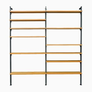 Large Ash Shelving System by Olof Pira for Planmöbel, 1960s