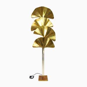 Lámpara de pie Ginkgo de cuatro hojas de Tommaso Barbi, Italy, años 70