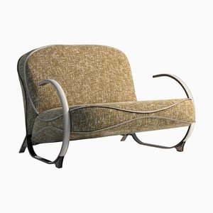 Beatrix Armchair in Fabric and Leather by Claudio Cappellini for Hessentia