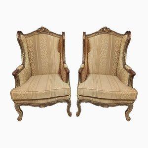 Louis XV Bergere Ear Chairs