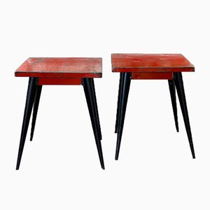 Mid-Century Model 55 Tables by Xavier Pauchard for Tolix, Set of 2