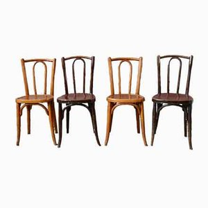 Bugholz Stühle, 1920er, 4er Set