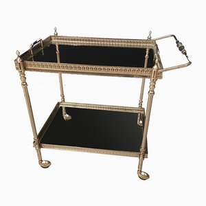 Two-Tier Serving Trolley in Chrome