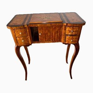 Tavolo da lettura o scrittoio in stile intarsio, XIX secolo