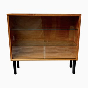 Small Vintage Glass Bookshelf or Cabinet