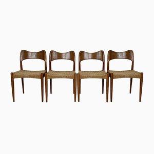Chaises de Salon par Arne Hovmand Olsen pour Mogens Kold, Danemark, 1960s, Set de 4