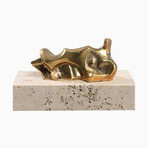 Elodie Musa Da, Miniature en Bronze par Domenico Calabrone, Brésil, 1960s