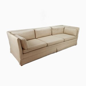 Vintage Linen Sofa, 1970s