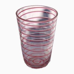 Vintage Murano Glas Chupachups Vase in Rosa, Italien, 1970er
