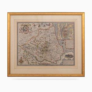 Carte du Bishoprick & Citie de Durham, 17ème Siècle, par John Speed, 1610s
