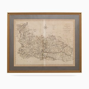 19th Century Map of North Part of West Riding of Yorkshire by John Cary, 1800s