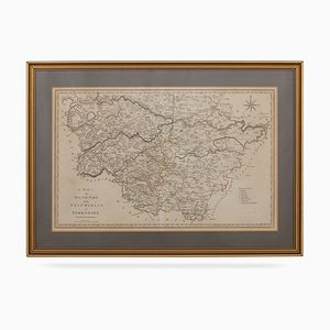 19th Century Map of South Part of West Riding of Yorkshire by John Cary, 1800s