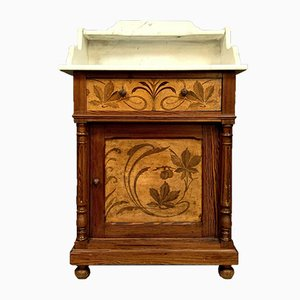Art Nouveau Washstand with Inlays, 1900s