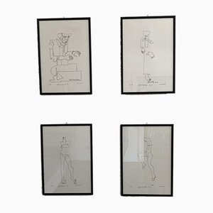 Gli Angeli, Molinari, Silkscreens, 1980s, Set of 4