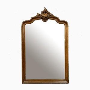 Big Napoleon III Solid Walnut Mirror