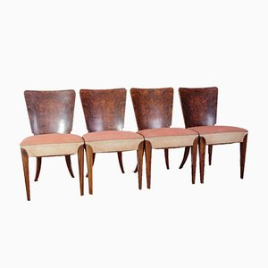 Art Deco Model H 214 Dining Chairs by Jindrich Halabala for UP Zavody, Set of 4, 1930s
