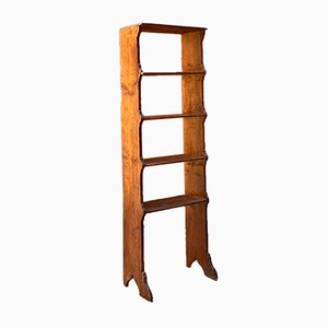 Early 20th Century Italian Rustic Bookcase with Shelves, 1900s
