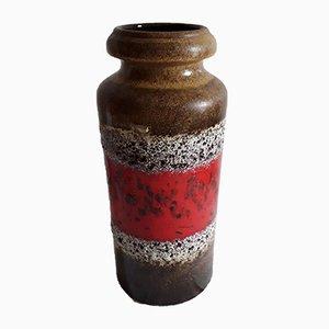 Vase Modèle Numéro 517-30 en Céramique Fat Lava avec Différentes Techniques de Vitrage par Scheurich, 1970s