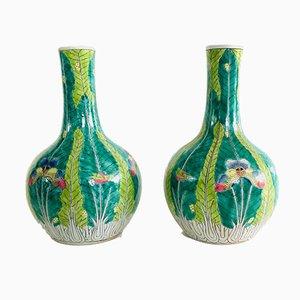 Set di vasi grandi in porcellana verde, Cina, anni '60, set di 2
