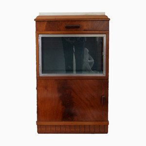 Auxiliary Cabinet with Art Deco Showcase