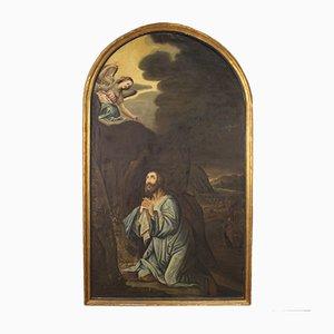 Pala grande Gesù religioso nell'orto degli ulivi, XVIII secolo
