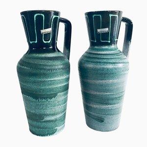 Mid-Century Modern Studio Pottery Vase Set by Scheurich, West Germany, 1960s, Set of 2