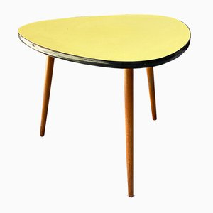 Northern European Yellow Coffee Table with Original Solid Beech Legs, 1960s