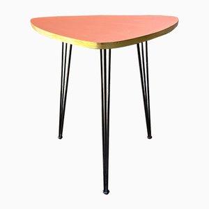 Mid-Century Modern Italian Pink Coffee Table with Metal Rod, 1960s