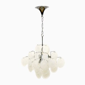 Murano Glass Disc Chandelier in the Style of Vistosi, 1960s