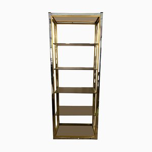 Brass and Chrome Etagere by Renato Zevi, 1970s