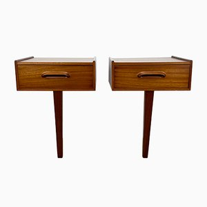 Mid-Century Bedside Drawers, Set of 2